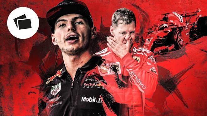 Max Verstappen (l.) und Sebastian Vettel gerieten schon öfters aneinander
