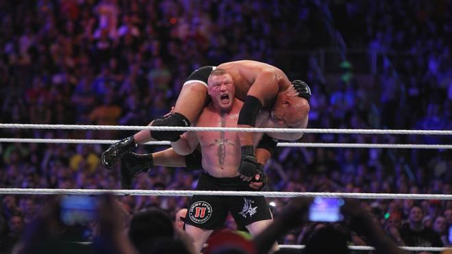 Brock Lesnar holte sich bei WrestleMania 33 den WWE Universal Title von Bill Goldberg