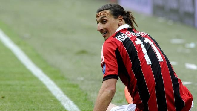 Zlatan Ibrahimovic spielte von 2010 bis 2012 beim AC Mailand