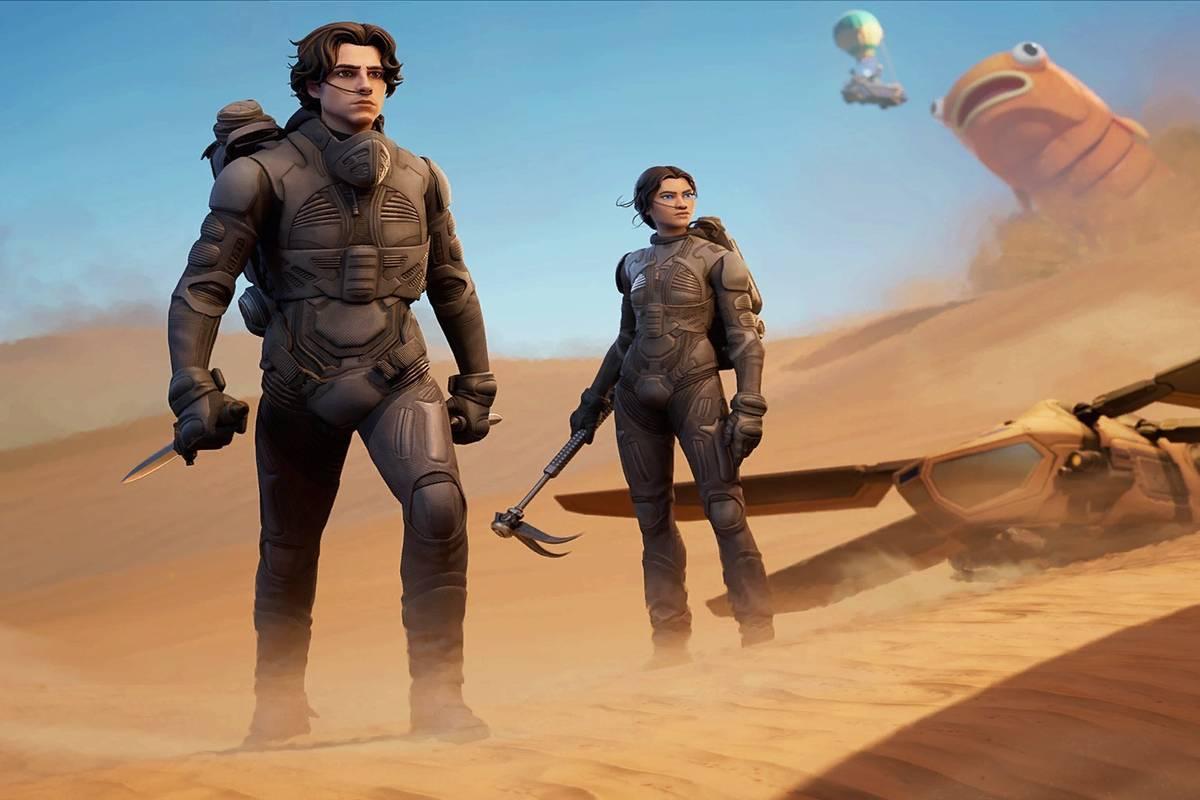 Epic Games hat zum US-Filmstart von Dune eine ganz besondere Überraschung parat. Der Spielentwickler fügt als Teil eines neuen Crossover-Events einige Charaktere sowie bedeutende Gegenstände der Fortnite-Welt hinzu.