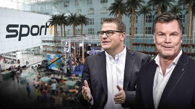 Moderator Thomas Helmer empfängt Max Eberl und weitere Gäste im CHECK24 Doppelpass