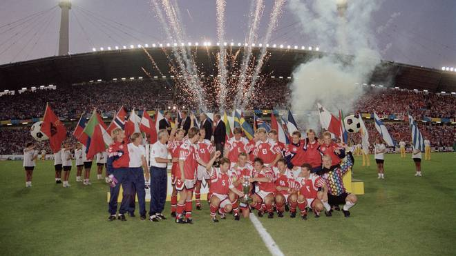 Dänemark feiert 1992 den EM-Titel nach einem Sieg über Deutschland