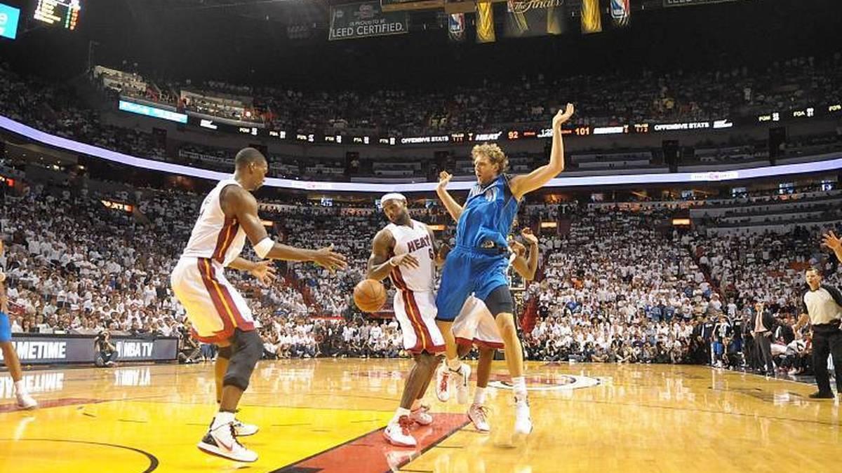 Dirk Nowitzki und die Mavericks bezwangen die Miami Heat im Finale