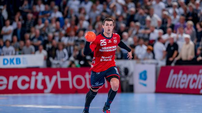 Rasmus Lauge von der SG Flensburg-Handewitt wurde mit Dänemark 2019 Handball-Weltmeister
