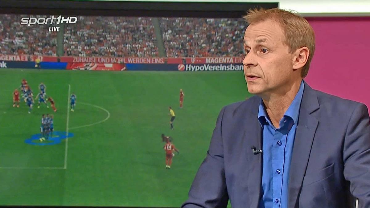 Olaf Thon in der Telekom Spieltaganalyse auf SPORT1