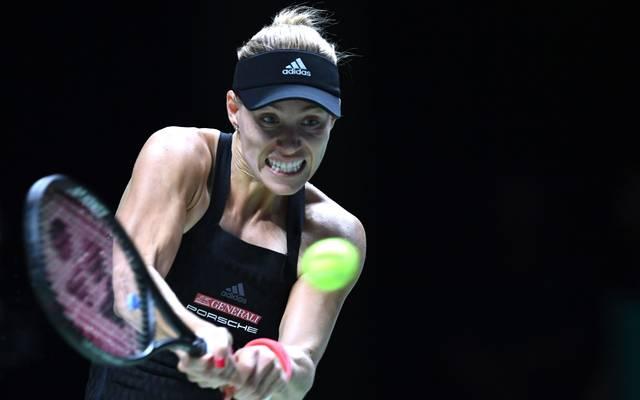 WTA Finals mit Angelique Kerber, Naomi Osaka, Sloane Stephens, Kiki Bertens. Angelique Kerber verliert bei den WTA Finals gegen Sloane Stephens
