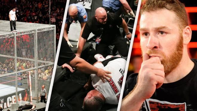 Shane McMahon (l.) fiel bei WWE Hell in a Cell wegen Sami Zayn (r.) ins Leere