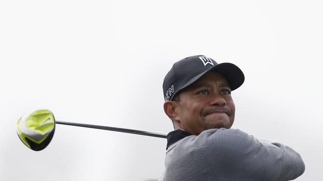 Tiger Woods-Golf-mit Schläger