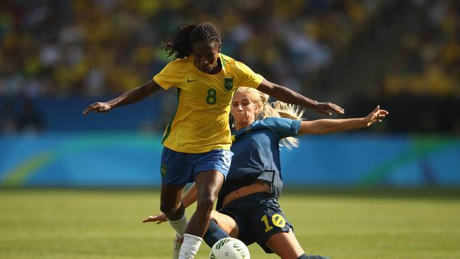 Brazil vs Sweden -  Semi Final: Women's Football - Olympics: Day 11