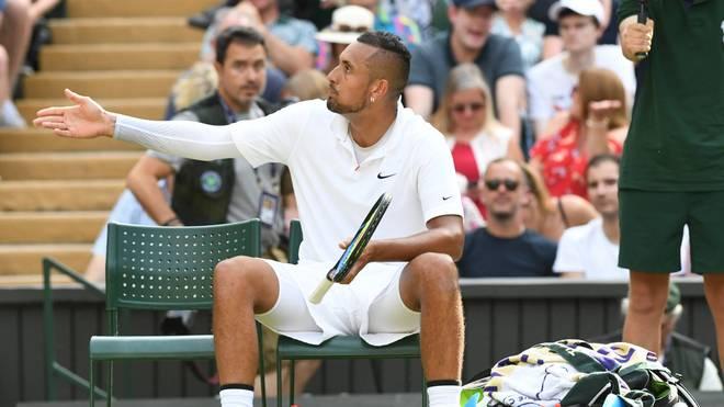 Nick Kyrgios scheiterte in Wimbledon an Rafael Nadal
