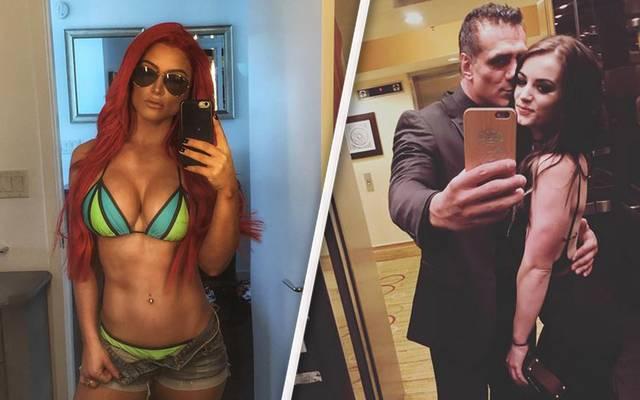 Von WWE wegen Doping-Verstößen gesperrt: Eva Marie, Alberto Del Rio, Paige (v.l.)