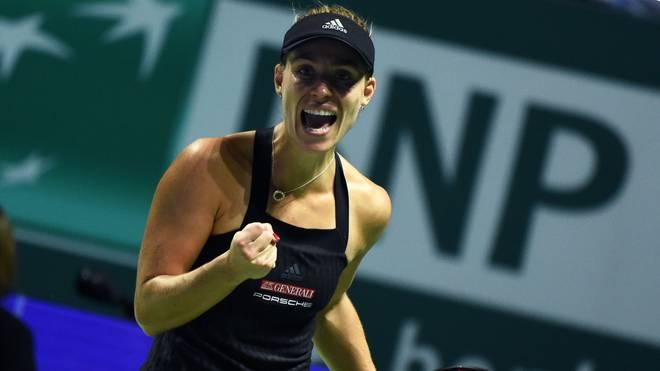 Angelique Kerber darf auf das Halbfinale bei den WTA-Finals hoffen