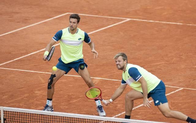 Kevin Krawietz (r.) und Andreas Mies gewannen 2019 den Doppel-Titel der French Open