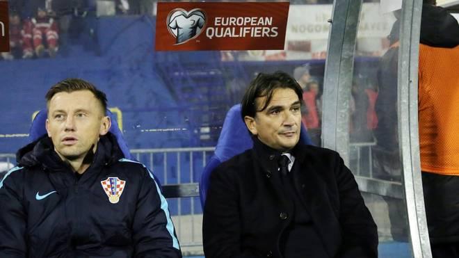Olic (l.) war bisher als Co-Trainer bei Kroatien tätig