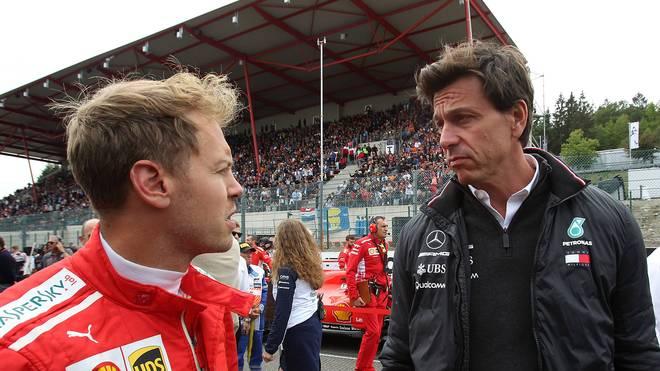 Toto Wolff (r.) ist Teamchef von Mercedes