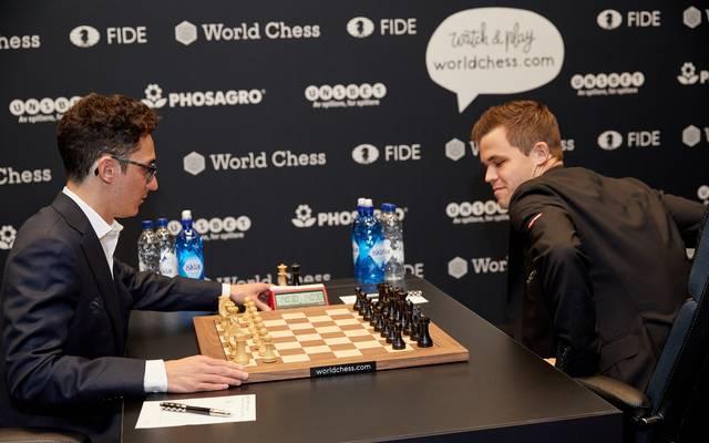 Schach-WM: Magnus Carlsen und Fabiano Caruana erneut mit Remis