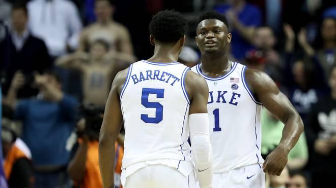 Teamkollegen bei den Duke Blue Devils: RJ Barrett (li.) und Zion Williamson von den Duke Blue Devils