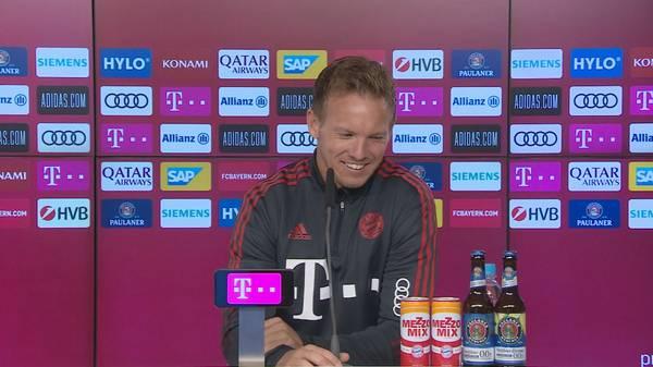 """""""Nur wegen der Kohle!"""" Nagelsmann foppt Goretzka"""
