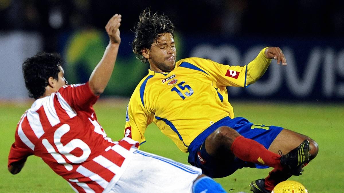 Gerardo Bedoya (r.) gewann 2001 mit Kolumbien die Copa America