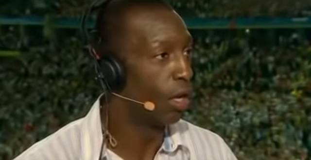 Michael Johnson kann es nicht glauben, als er die Zeit von Usain Bolt sieht