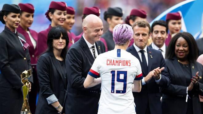 Gianni Infantino will dem Frauenfußball mit einer globalen Nations League zu mehr Aufmerksamkeit verhelfen