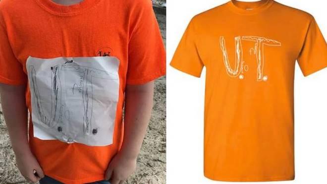 Das selbst gestaltete T-Shirt eines Viertklässlers wurde zu einem offiziellen Merchandising-Produkt