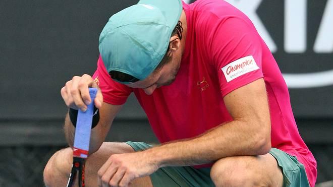Tommy Haas musste in der ersten Runde der Australian Open aufgeben