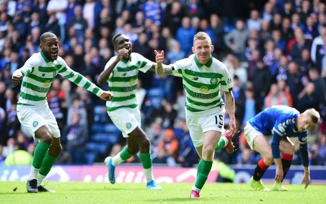 Johnny Hayes (r.) traf in der Nachspielzeit für Celtic