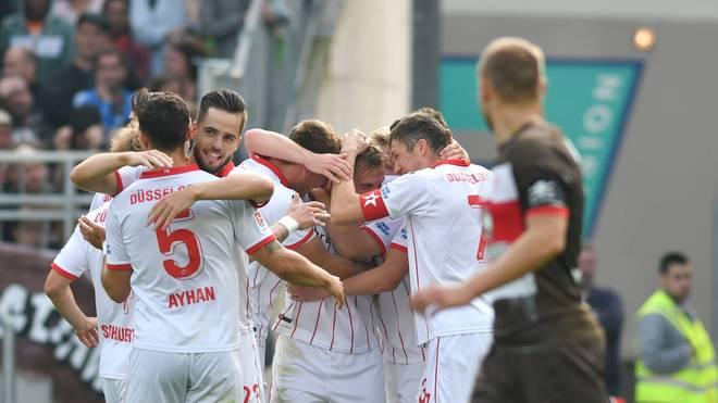 Düsseldorf ist nach dem Sieg wieder Erster