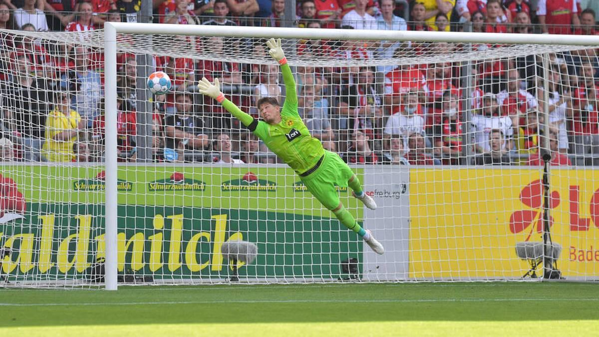 BVB-Torwart Gregor Kobel war chancenlos beim Treffer durch Grifo