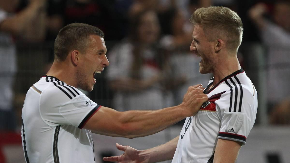 Lukas Podolski und André Schürrle zählen zu den teuersten Deutschen Fußballern aller Zeiten