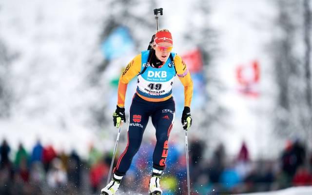 Denise Herrmann stürmte in Oberhof bis auf den fünfte Platz