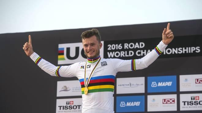 Marco Mathis gewann die Goldmedaille im Einzelzeitfahren