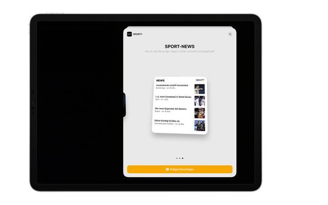 Sport-News für das iOS14-Widget