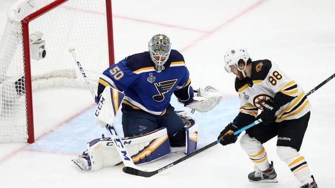 Auch David Pastrnak trug sich für die Boston Bruins in die Torschützenliste ein