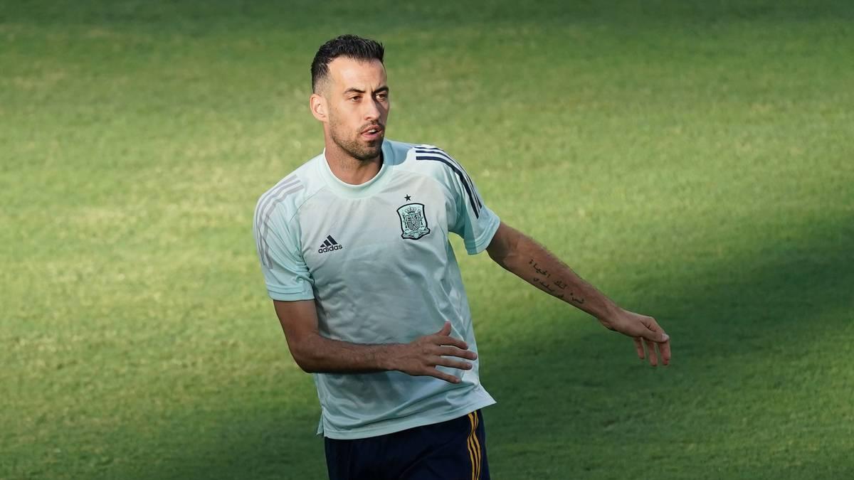 Sergio Busquets drängt zurück die Startelf der spanischen Nationalmannschaf