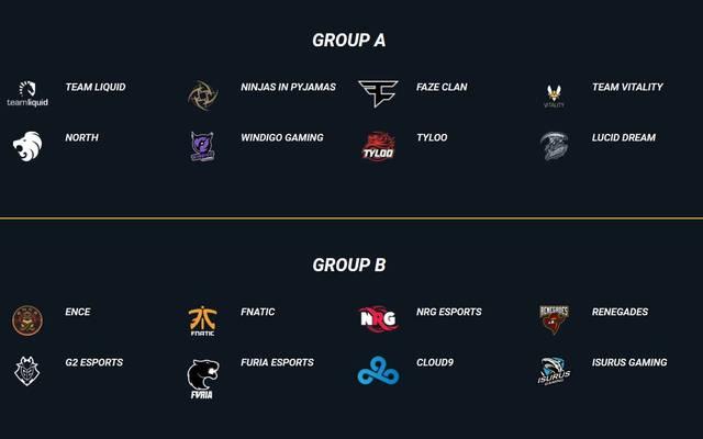 Das sind die Gruppen der DreamHack Masters Dallas 2019