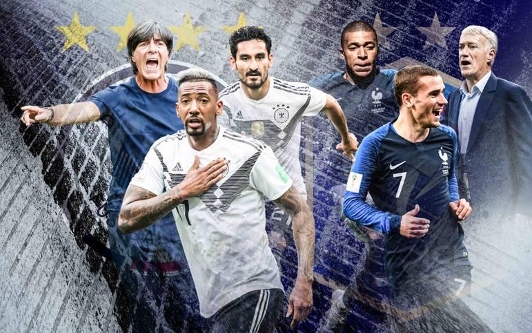 Im Spiel eins nach dem WM-Debakel hätte die DFB-Elf zur Wiedergutmachung keinen besseren Gegner erwischen können als die aktuelle Nummer eins: Weltmeister Frankreich. SPORT1 vergleicht die beiden Teams im Head-to-Head