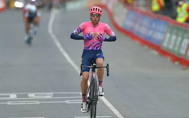 Michael Woods setzte sich auf der siebten Vuelta-Etappe in einer Gruppe Ausreißer durch