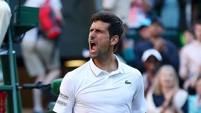 Novak Djokovic jubelt an Tag 3 bei Wimbledon 2019