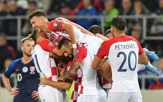 Ivan Perisic gehörte beim kroatischen Sieg gegen die Slowakei zu den Torschützen