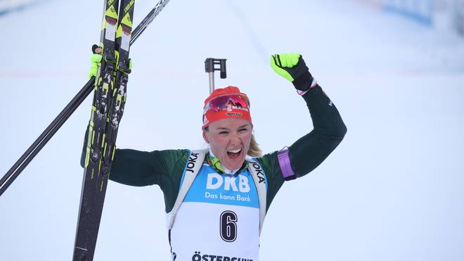 Biathlon-WM: Denise Herrmann holt Gold in Verfolgung - Dahlmeier Bronze