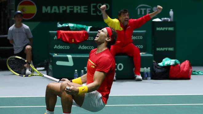 Rafael Nadal jubelt nach dem Finaleinzug