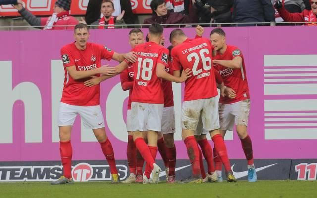 Der 1. FC Kaiserslautern ist auf dem Vormarsch in der dritten Liga