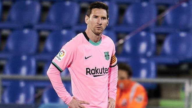 Lionel Messi wird von Barcelonas Trainer kritisiert
