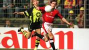 GERMANY - APRIL 09:  FUSSBALL: CHAMPIONS LEAGUE/DORTMUND - MANCHESTER UNITED am 9.4.97, Joerg HEINRICH/BUTT  (Photo by Bongarts/Getty Images)