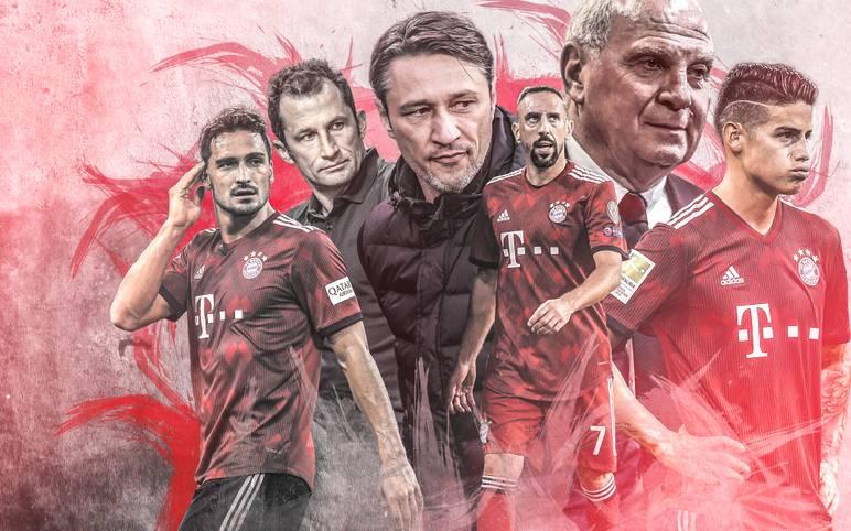 Der Saisonstart des FC Bayern war furios angesichts sieben Siegen aus sieben Pflichtspielen. Doch seit vier Spielen ist der Meister sieglos, erlebte zuletzt gar eine 0:3-Debakel gegen Borussia Mönchengladbach. SPORT1 zeigt die Gesichter der Bayern-Krise und die Entwicklung der Abwärtsspirale