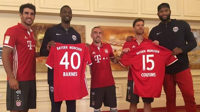 Martinez, Ribery und Alonso trafen Harrison Barnes und DeMarcus Cousins