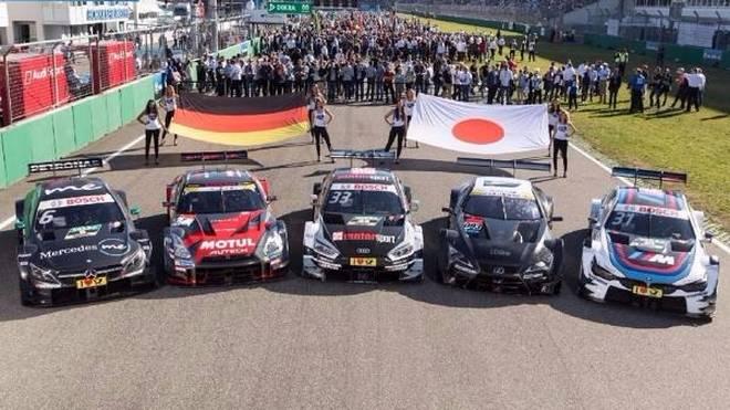 Die DTM bringt drei aktuelle Autos zum Gegenbesuch nach Japan