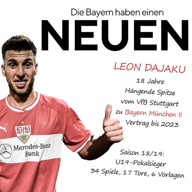 Leon Dajaku, VfB Stuttgart, FC Bayern München